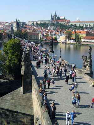 Prague's 14th-century Charles Bridge is getting a makeover that includes old-fashioned gaslights