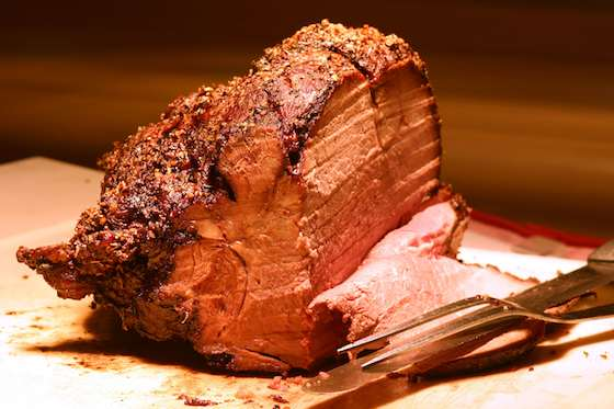 Prime Rib Roast with Horseradish Cream and Cabernet Sauce Recipe