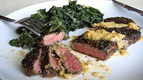 Quick and Elegant Dinner: Steak au Poivre with Shallot Pan Sauce