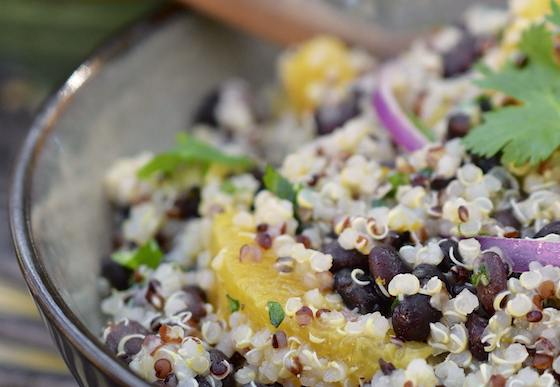 Quinoa and Black Bean Salad with Citrus-Coriander Dressing Recipe