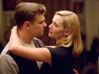 Leonardo DiCaprio & Kate Winslet in a scene from the movie Revolutionary Road