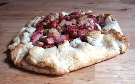 Rhubarb and Strawberry Crostata Recipe