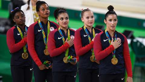 US Women Take Team Gymnastics Gold