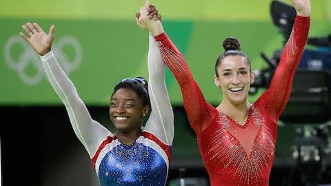 Biles, Raisman Win Gold, Silver in Women's All-Around