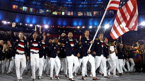 Team USA Enters Opening Ceremony to Roaring Cheers