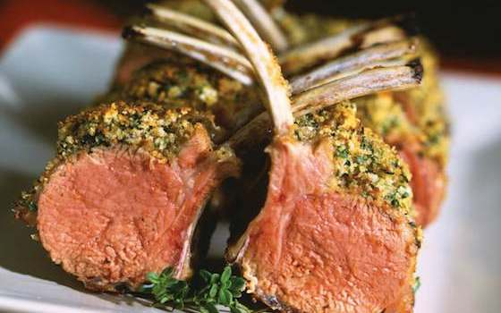 Roast Rack of Lamb Persillade Recipe
