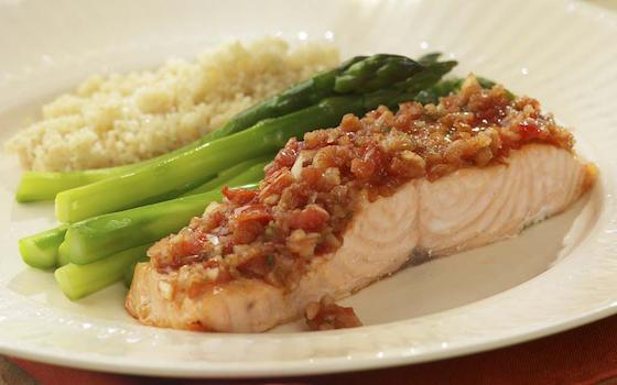 Roast Salmon with Salsa Recipe