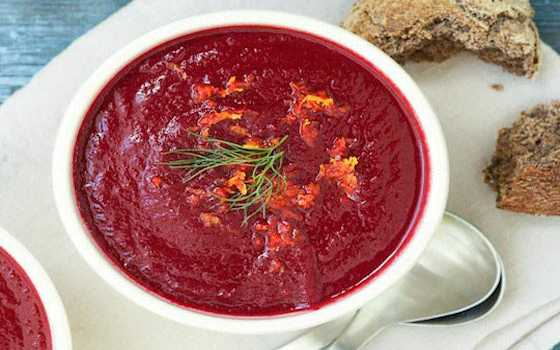 Roasted Beet Soup with Fennel and Orange Recipe