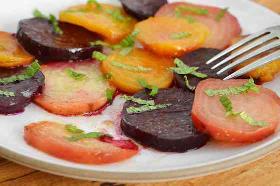 Roasted Beets with Cumin, Lime and Mint Recipe