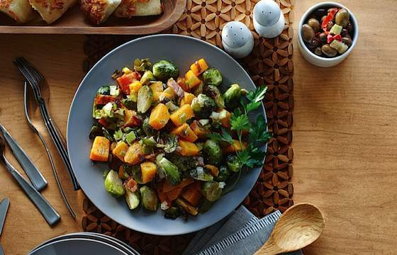 Roasted Brussels Sprouts and Winter Squash Recipe