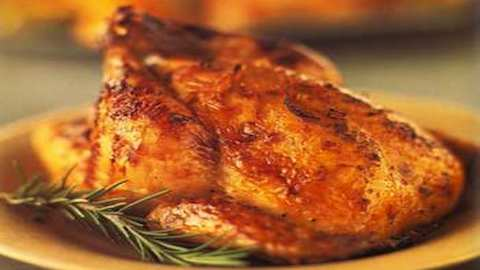 Roasted Cornish Hens with Orange-Honey-Mustard Glaze