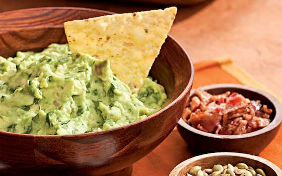 Roasted Garlic Guacamole with Help-Yourself Garnishes Recipe