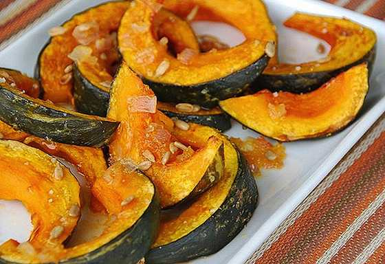 Roasted Kabocha Squash with an Orange-Honey Glaze Recipe