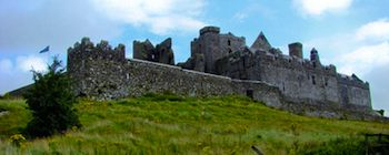The buildings at the Rock of Cashel in Ireland date from the 12th and 13th centuries