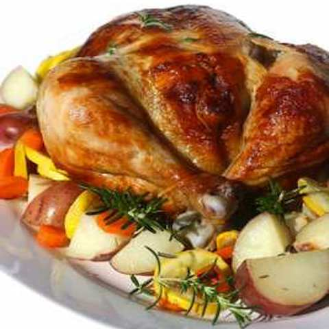 Rotisserie Garlic Rosemary Chicken with Roasted Vegetables - Wolfgang