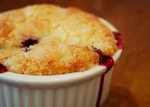 Rustic Berry Cobbler for One Dessert Recipe