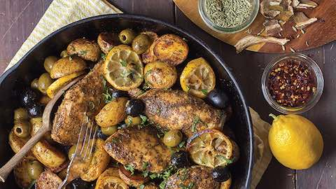 Rustic Chicken with Ripe Olives Recipe