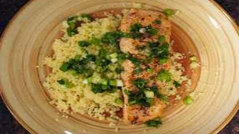 Salmon and Couscous with Cilantro Vinaigrette