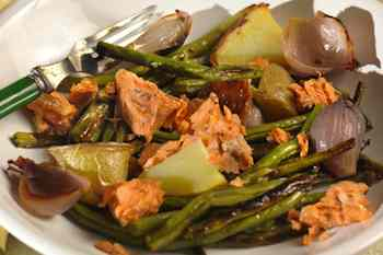 Salmon and Roasted Vegetable Salad Recipe Recipe