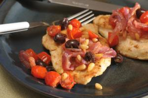 Sauteed Chicken with Mediterranean Relish Recipe