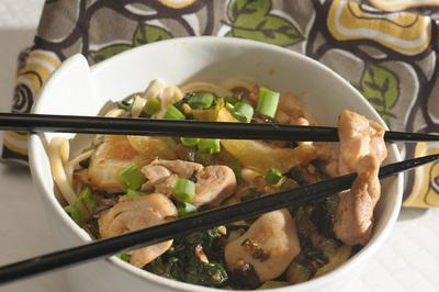 Savory Chicken with Asian Noodles Recipe