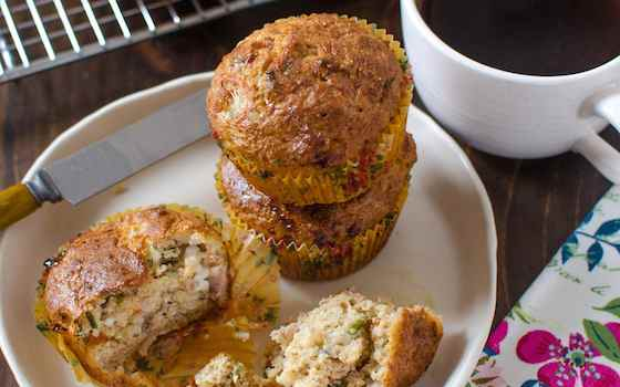 Savory Muffins with Prosciutto and Chives Recipe