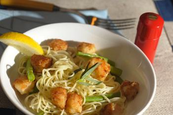 Scallops and Green Beans with Capellini