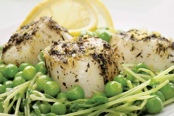 Scallops and Sweet Peas Recipe