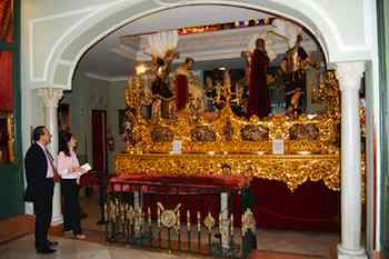 Every Good Friday, this three-ton float, depicting the Sentencing of Christ, is carried through the streets of Sevilla by teams of 48 men. For the rest of the year, it resides here at the Basilica de la Macarena