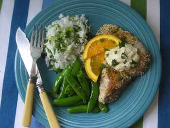 Sesame-Coated Tuna Steaks with Orange Sherry Mayo