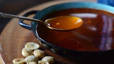 Sherry-Garlic Soup with Smoked Paprika