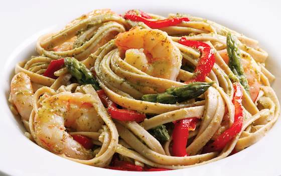 Shrimp and Pesto Fettuccine Pasta Recipe