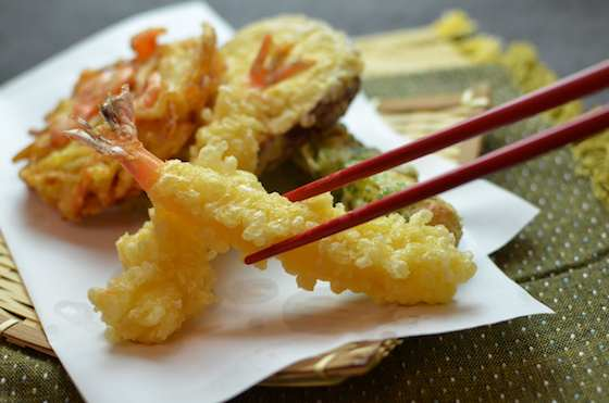Shrimp and Vegetable Tempura with Two Dipping Sauces Recipe