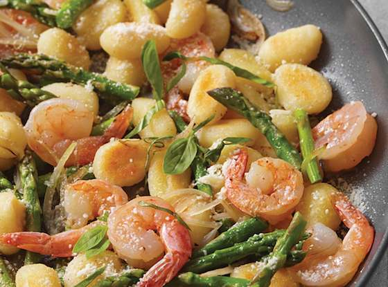 Skillet Gnocchi with Shrimp and Asparagus Recipe