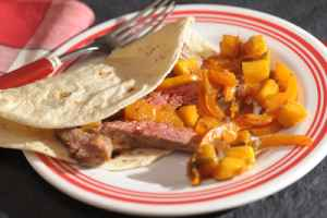 Skirt Steak with Mango & Pepper Chutney  Recipe