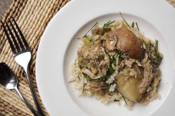 Slow Cooker Coconut and Green Curry Pork Recipe