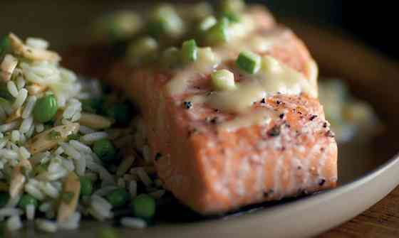 Slow Roasted Salmon with Miso Vinaigrette Recipe