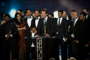 Accepting the Oscar� in the category Best motion picture of the year for