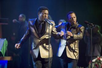 Soul Men Movie Review Soul Men Movie Trailer Samuel L. Jackson, Bernie Mac, Sharon Leal, Sean Hayes, Adam Herschman, Affion Crockett, Jennifer Coolidge