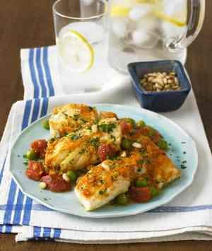 Fish In Pine Nut Sauce: Spanish Tapa for Dinner  - Diane Rossen Worthington Recipes