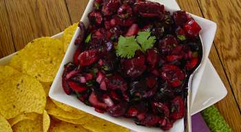 Spiced Cherry-Lime Salsa Salsa Recipe