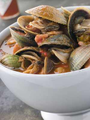 Spicy Clam Stew  - Diane Rossen Worthington Recipes