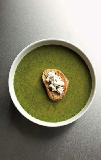 Spinach and Goat Cheese Bisque Recipe