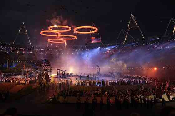 2012 Summer Olympics: Opening Ceremony - Olympic Rings (Photo by: Paul Drinkwater/NBC)