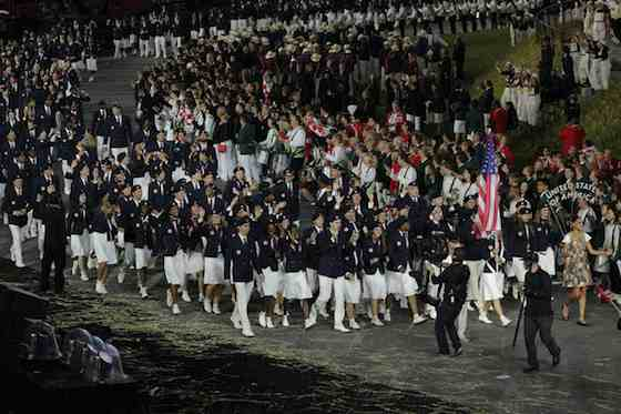2012 Summer Olympics: Opening Ceremony - Team USA (Photo by: Paul Drinkwater/NBC)