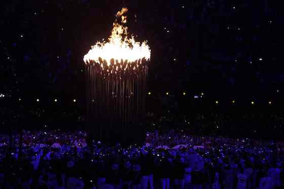 2012 Summer Olympics: Opening Ceremony - Olympic Flame (Photo by: Paul Drinkwater/NBC)
