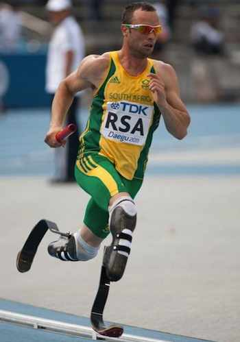 Oscar Pistorius during 2011 World Championships (Photo: Erik van Leeuwen / Wikipedia)