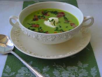 Spring Pea Soup with Bacon and Chives  Recipe