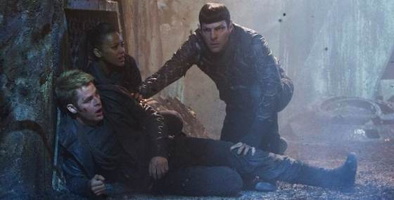 Chris Pine and Zachary Quinto  in 'Star Trek Into Darkness'