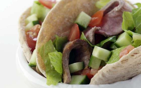 Steak Salad-Stuffed Pockets Recipe